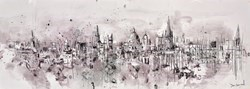Summoned by Bells (Oxford) by Tim Steward -  sized 43x16 inches. Available from Whitewall Galleries
